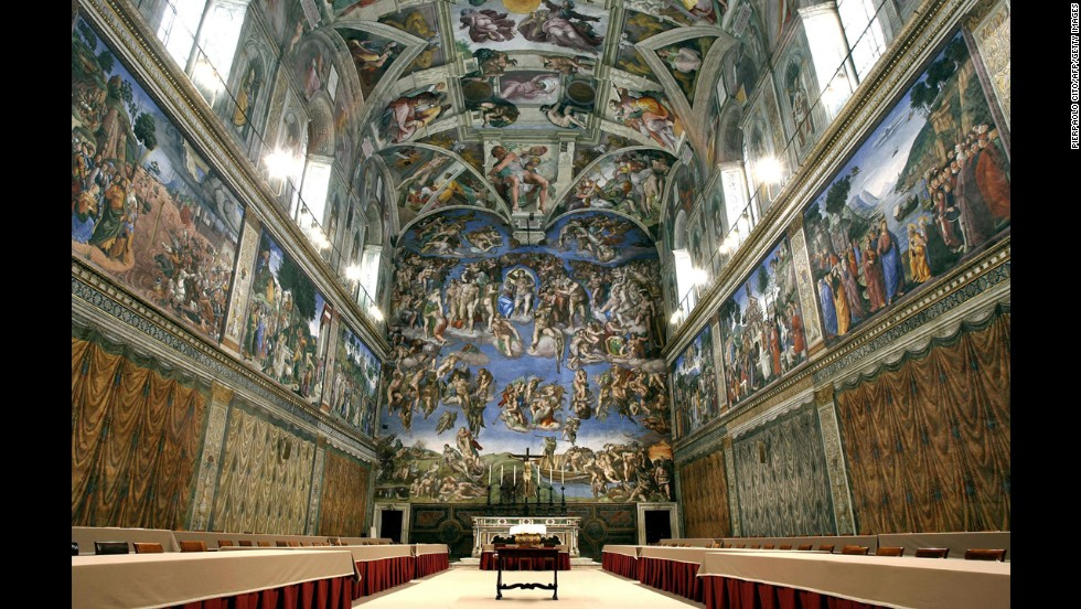 Pope Julius II's decision to display a collection of sculptures at the beginning of the 16th century led to the Vatican Museums. Sections include ethnology, Egyptian history, Etruscan history, tapestries, ceramics, contemporary art, the Sistine Chapel and much more.