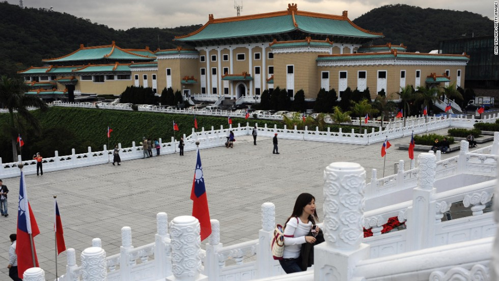 The National Palace Museum's collection of artifacts began with the palatial possessions of China's last emperor Puyi. To avoid destruction during multiple wars, the collections were shipped throughout China before being reassembled in Taiwan.