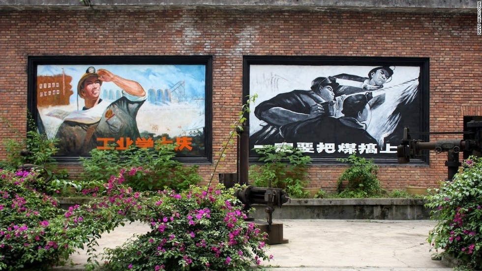 Cultural Revolution murals have been restored in Bagou.