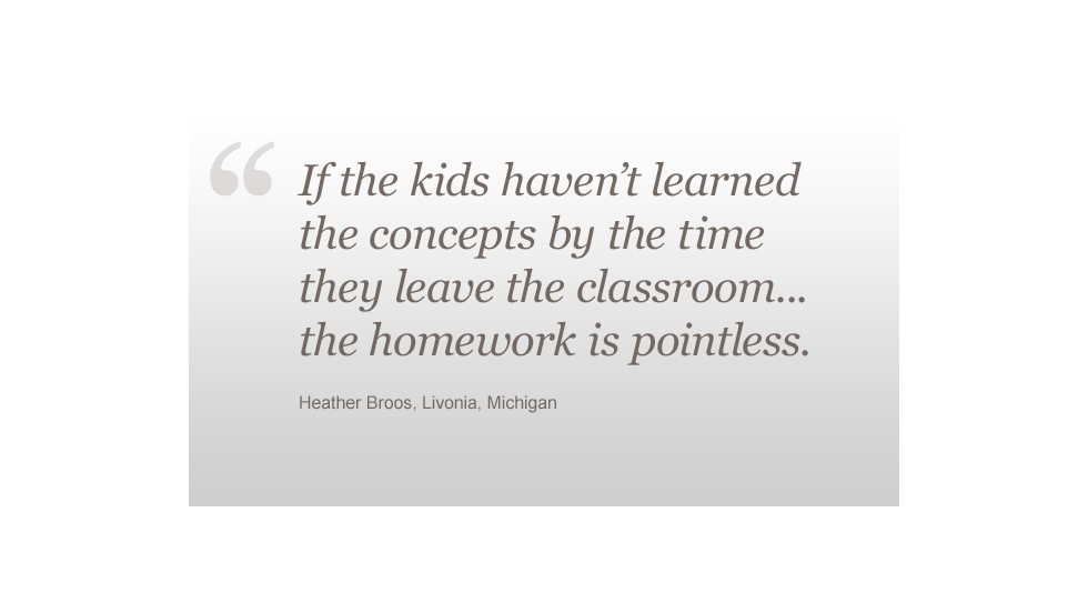 Do our kids have too much homework