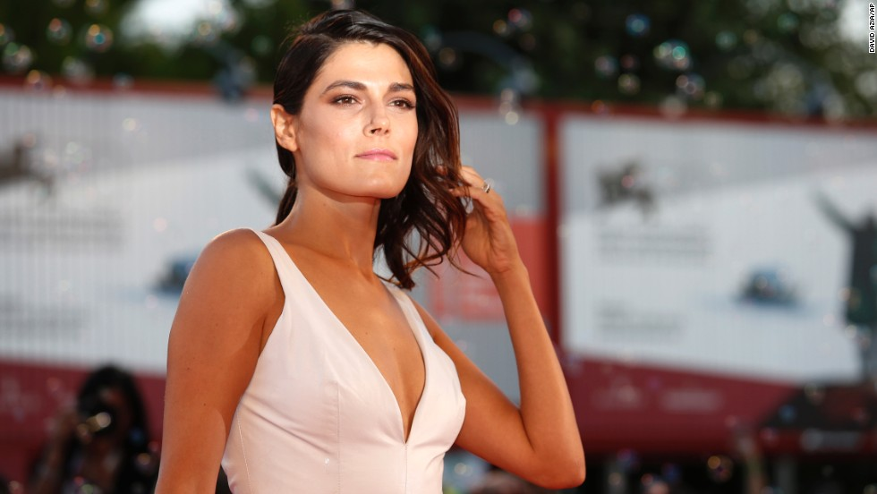 """Actress Valeria Solarino works the red carpet during the photo call for the film """"The Intrepid"""" on September 4."""