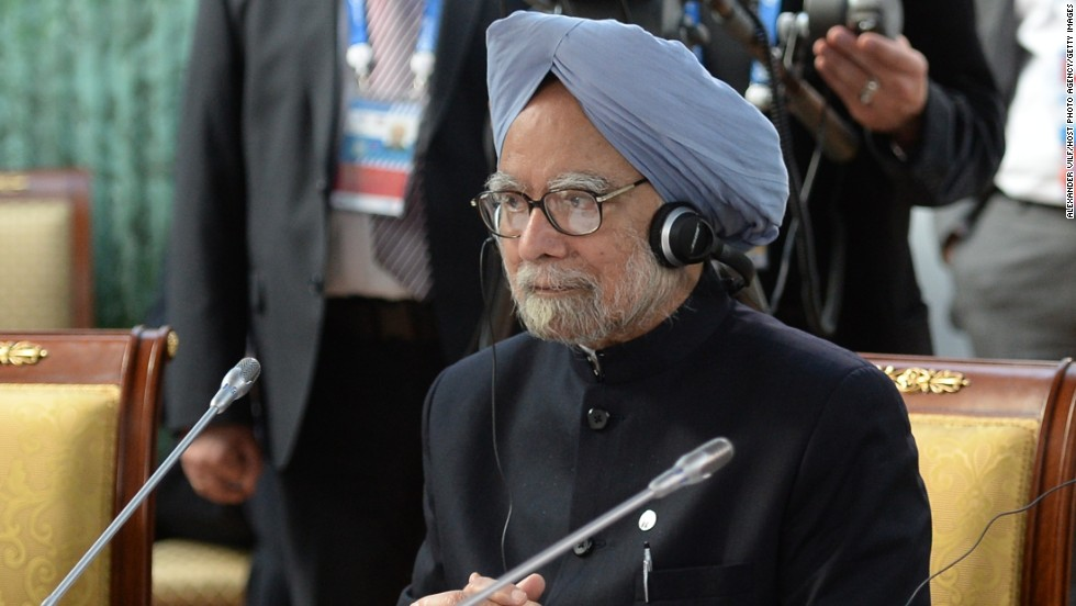 Indian Prime Minister Manmohan Singh listens at the meeting of the BRICS delegation heads on September 5.