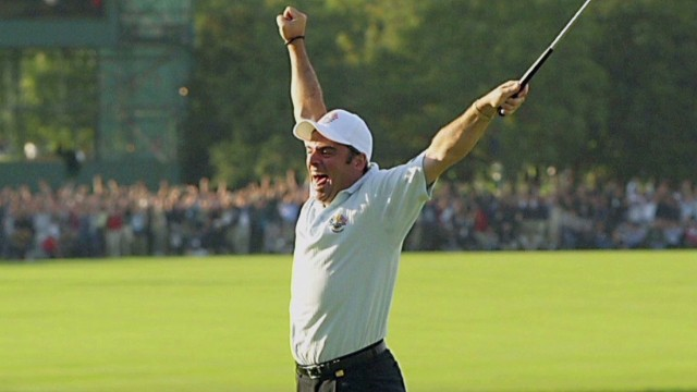 Paul McGinley takes on Ryder Cup course