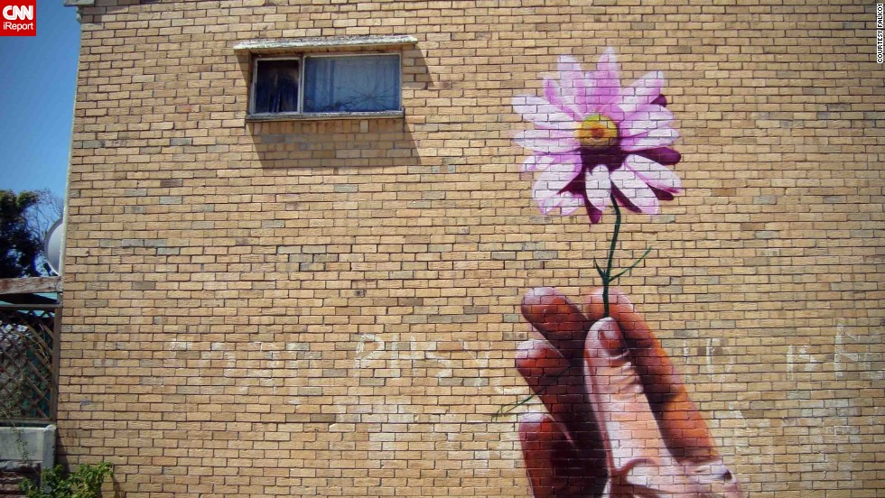 """I've been a graffiti artist with a strong traditional Hip-Hop influence since 1988,"" FALKO1 told CNN iReport. ""I don't really consider myself a street artist but a graffiti artist/writer who dabbles in 'street art.'"""