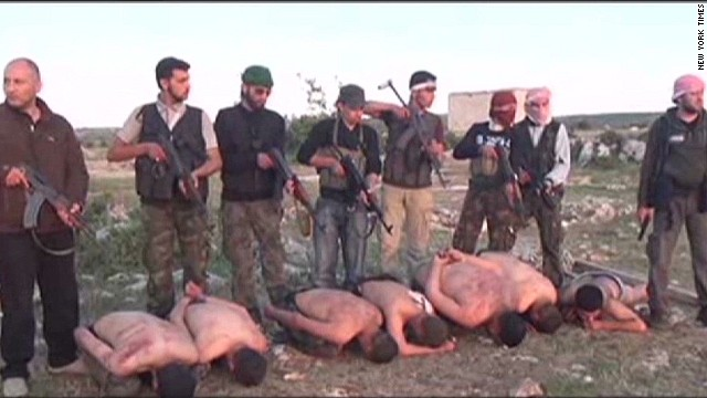 Syrian rebels film execution