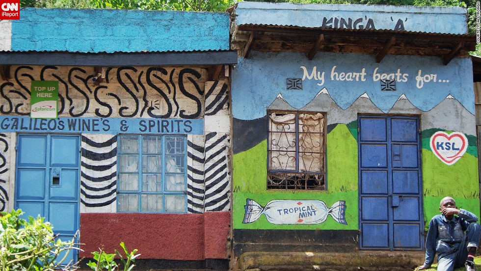 """Taken on the road through the Great Rift Valley between Nyeri and Lake Begoria. """"Driving in rural Kenya provides an opportunity to take in the incredible colour and vibrancy provided by the shop fronts and names in villages all over the country,"""" says <a href=""""http://ireport.cnn.com/docs/DOC-1008460"""" target=""""_blank"""">iReporter Sally Walton</a>."""
