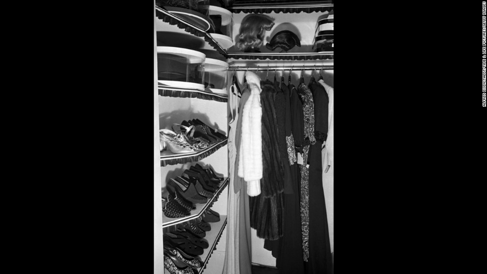 Cynthia's closet is pictured in 1937.