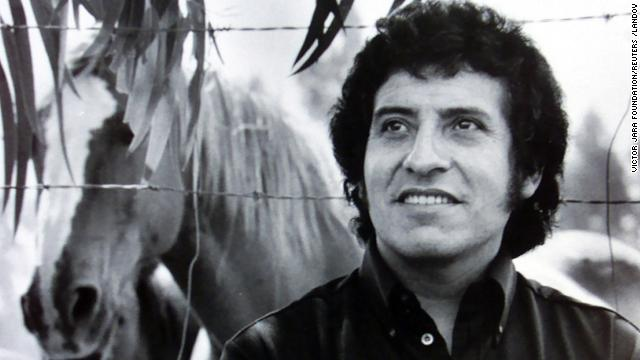 Chilean singer Victor Jara, who was tortured and died during the military dictatorship of General Augusto Pinochet, is seen in this undated file picture.