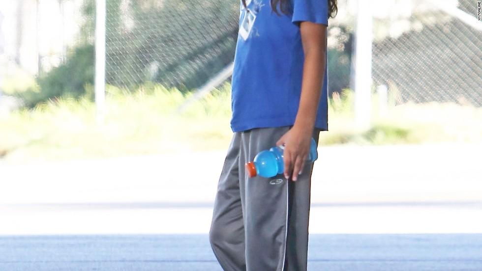 Blanket Jackson grabs a Gatorade on September 4, 2013.