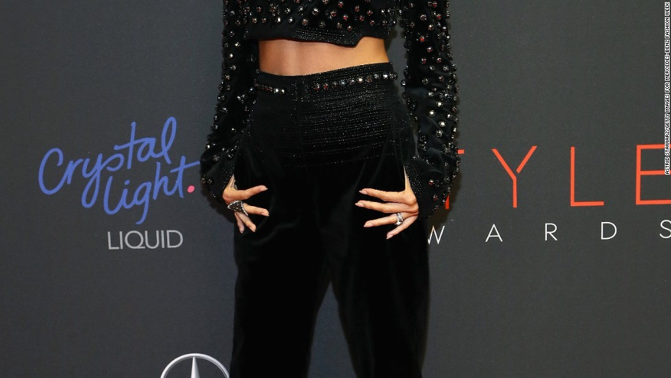 Nicole Richie takes in the cameras at the 10th annual Style Awards on September 4 in New York City.
