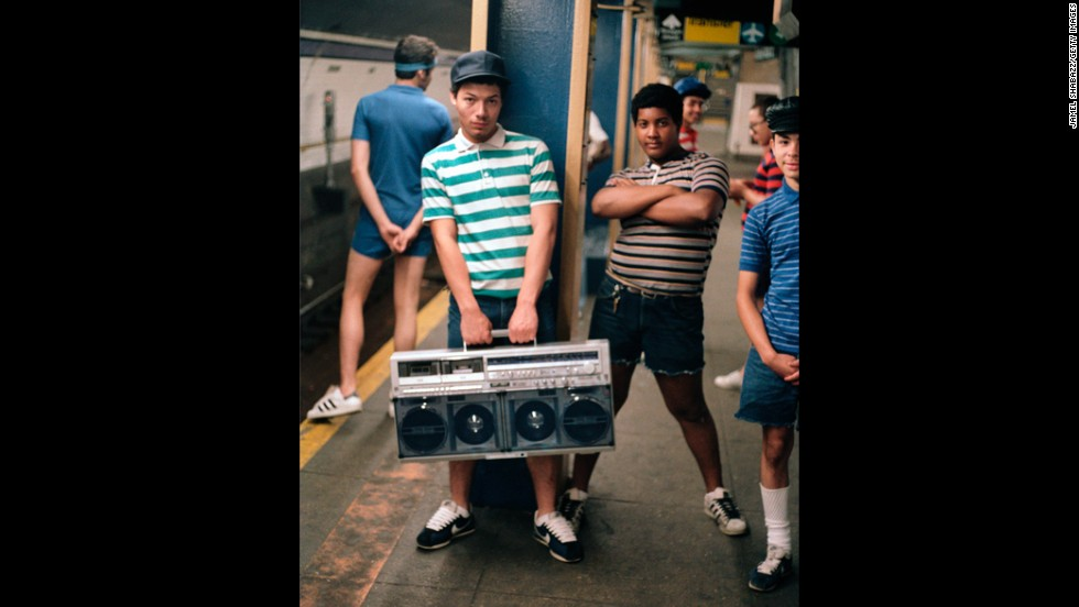 """With the arrival of the boom box, cassettes came back into vogue in the '80s. This hulking music delivery system was considered """"portable""""  and helped propel cassette sales."""