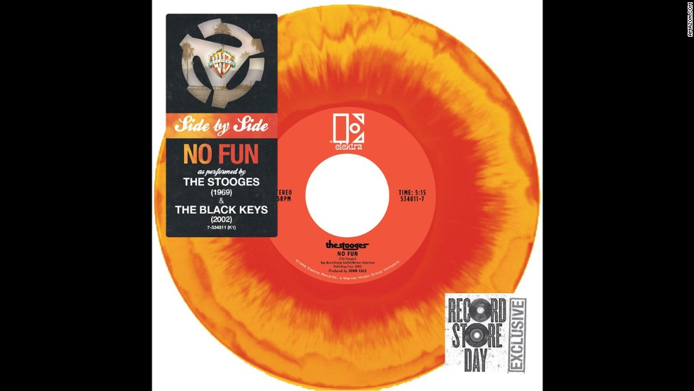 But vinyl has returned on a wave of hipster chic and nostalgia, not to mention audiophiles' conviction that records just sound better.  Most new releases today -- like this double-sided record from the Stooges and the Black Keys -- come out in vinyl, too.