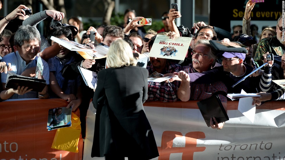 "Actress Glenn Close arrives at ""The Big Chill"" 30th anniversary screening at the Princess of Wales Theatre on September 5."