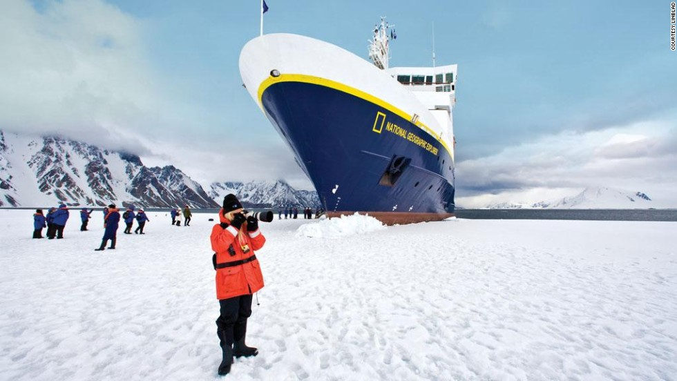 Lindblad Expeditions partners with National Geographic on Alaska, Arctic and Antarctic cruises. Pictured: National Geographic photographers doing what they do.