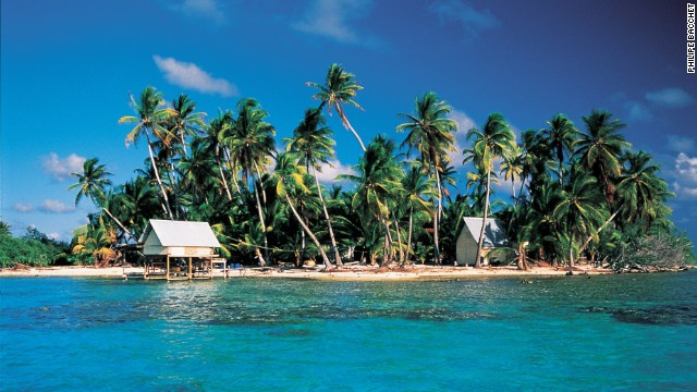 Manihi, another large coral atoll, offers a true castaway vacation, where few tourists venture.