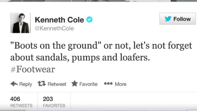 Kenneth Cole Syria tweet sparks outrage