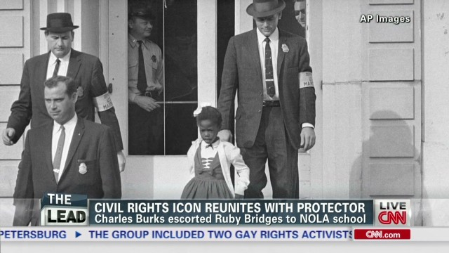 Civil rights icon and protector reunite