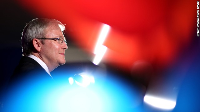 Former  Australian PM, Kevin Rudd on September 6, 2013 in Sydney, Australia.