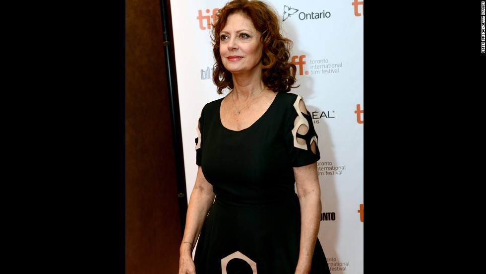 "Actress Susan Sarandon appears at ""The Last Of Robin Hood"" premiere during the festival at Isabel Bader Theatre on September 6."