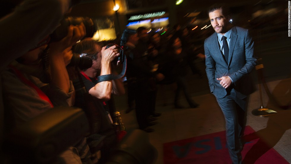 "Actor Jake Gyllenhaal arrives for the ""Prisoners"" screening on September 6."