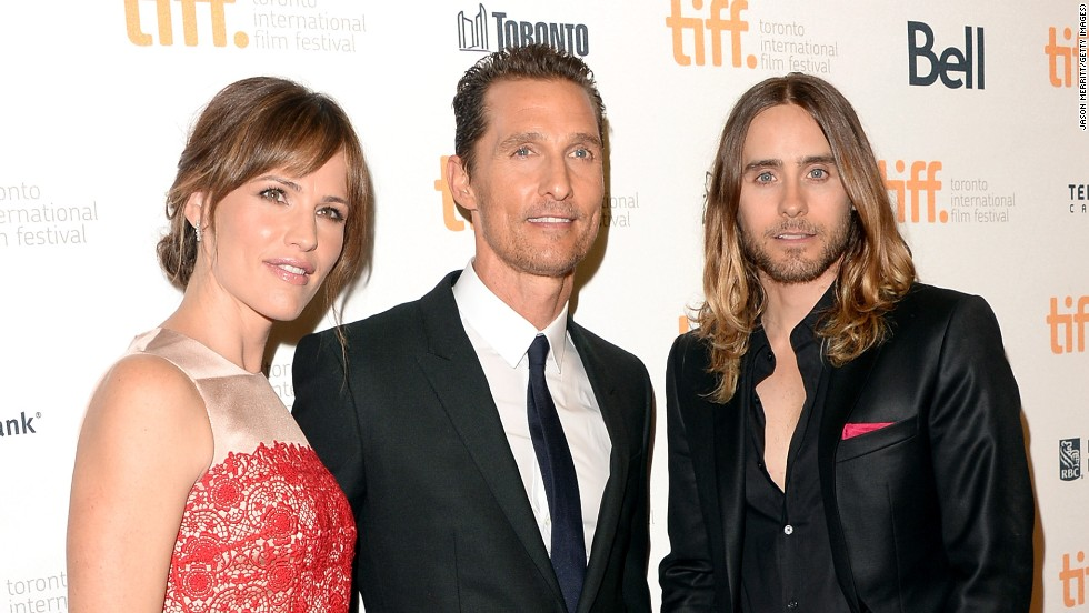"Actors Jennifer Garner, Matthew McConaughey and Jared Leto arrive at the ""Dallas Buyers Club"" premiere on September 7."
