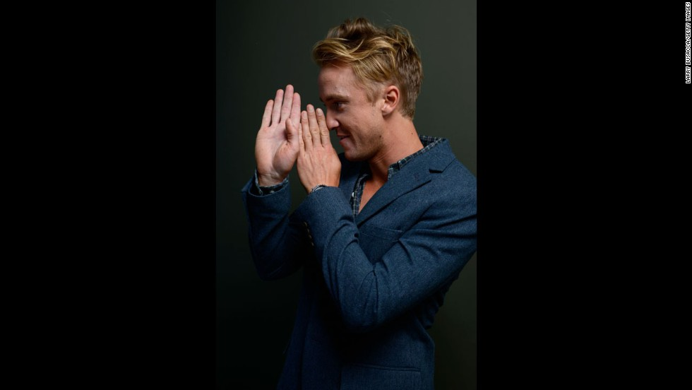 "Actor Tom Felton of ""Therese"" poses at the Guess Portrait Studio on September 7."