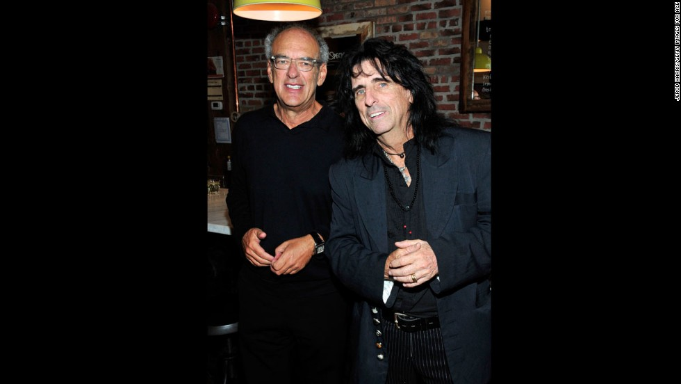 "Documentary subject/music manager Shep Gordon, left, and musician Alice Cooper attend the ""Supermensch: The Legend of Shep Gordon"" party on September 7."