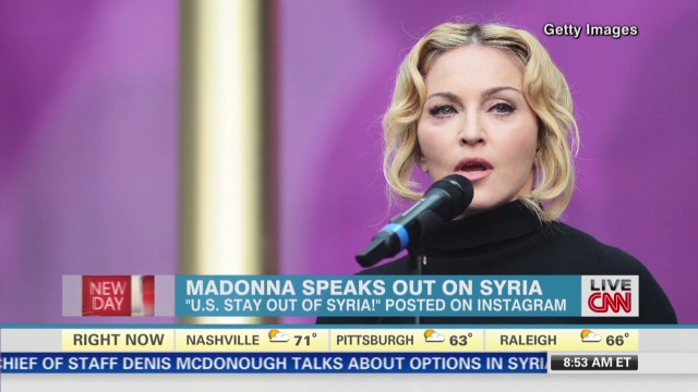 Madonna: Stay out of Syria