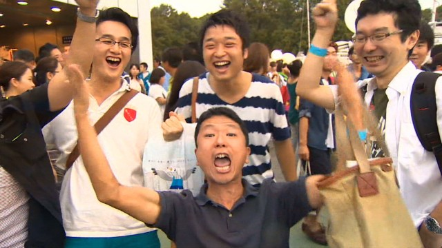 Tokyo celebrates winning 2020 Olympics