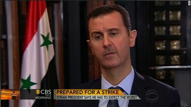 bashir al assad- syrian president; charlie rose pbs