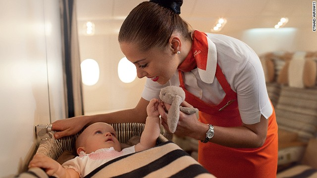 Etihad Airways is in the process of training 500 crew members to be in-flight nannies.