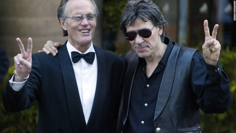 Nearly half a century and a few thousand bazillion plays on classic rock stations later, Captain America (Peter Fonda, left) and Steppenwolf's John Kay still manage to get our motors running. Even if half their fans have to turn around and go back because they forgot the blood-pressure meds.