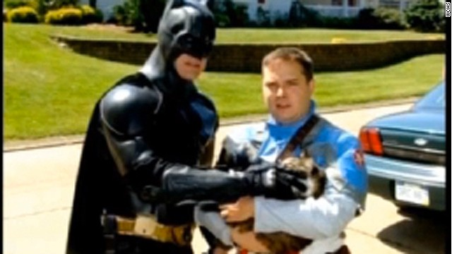 'Batman' and 'Captain America' save cat