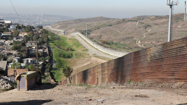 The border between the U.S. and Mexico at Tijuana.