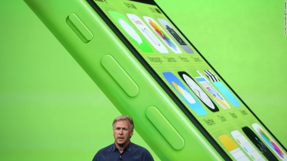Apple Senior Vice President of Worldwide Marketing Phil Schiller speaks about the new iPhone 5C -- a cheaper, $99 model that will have a plastic case instead of aluminum.