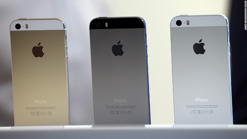 The new iPhone 5S, the successor to the current iPhone 5, will come in silver, gray and champagne gold. Prices start at $199 for the 16GB model (with a two-year contract), and go up to $399 for the 64GB.