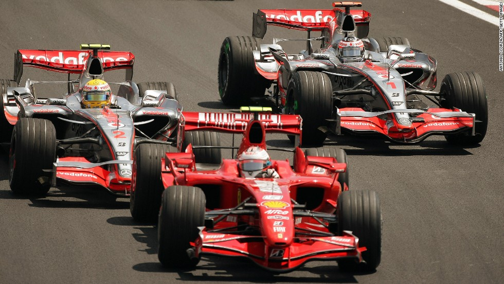 After joining Ferrari, Raikkonen won a dramatic Brazilian Grand Prix to seize the 2007 title by a single point from his McLaren rivals Lewis Hamilton and Alonso.