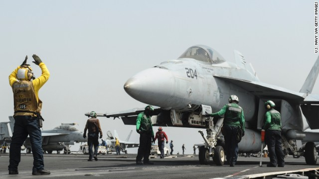 "You won't fly a U.S. Navy F/A-18E Super Hornet (pictured) off an aircraft carrier, but you can still play ""Maverick."""
