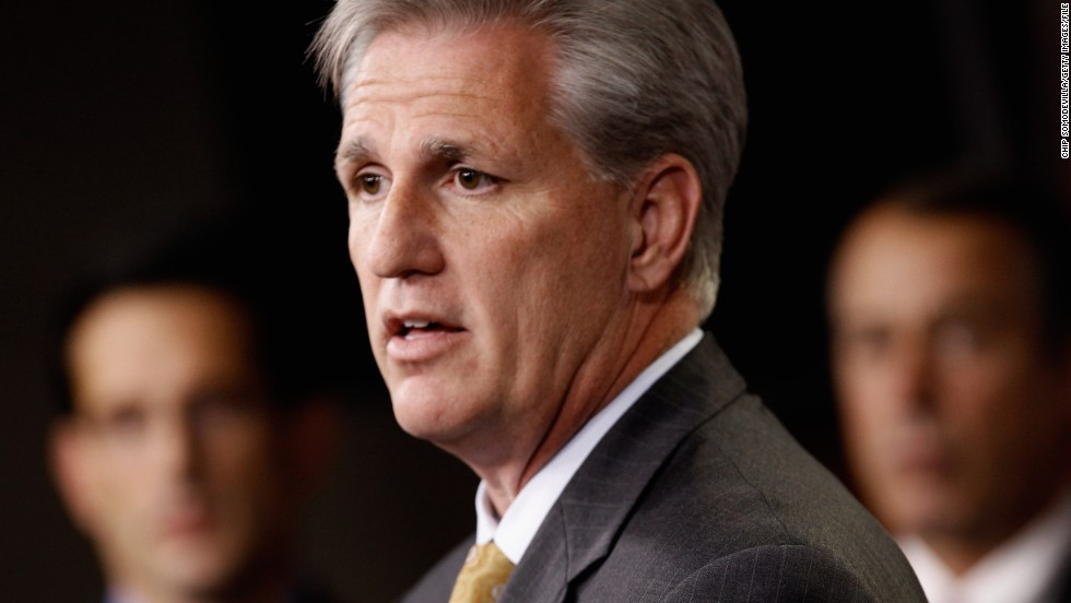 Rep. Kevin McCarthy, R-California, the House majority whip, is responsible for corralling votes. He is undecided on military action.