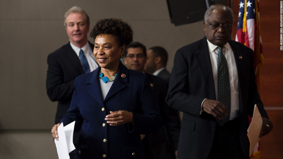 "Rep. Jim Clyburn, D-South Carolina, right, is the third highest-ranking House Democrat, while Rep. Barbara Lee, D-California is a former chair of the Congressional Black Caucus. They could influence caucus members' important votes on Syria. Clyburn is undecided on military authorization, while Lee is a ""no."""