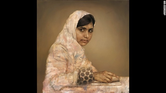 Portrait of Malala Yousafzai goes on show in display of work by Jonathan Yeo opening at the National Portrait Gallery in London.
