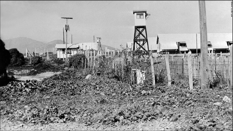 The Puchuncavi concentration camp near Valparaiso, Chile on October 15, 1975. The government of Allende built Melinka as a popular beach resort, owned by the central labor confederation. Following the coup, it was taken over and lasted from July 1974 to 1975 as a concentration camp.