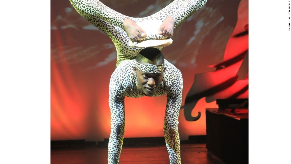 "Introducing Lazarus Gitu, the 30-year-old contortionist better known as ""Snake Man."""