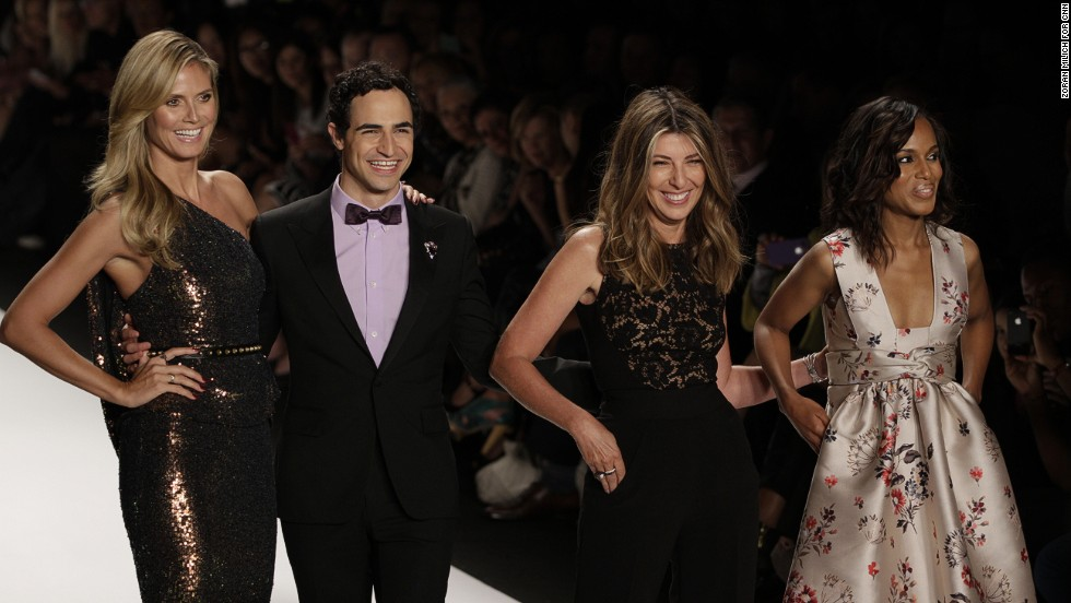 "The judges of ""Project Runway"" -- Heidi Klum,  Zac Posen, Nina Garcia and Kerry Washington -- take a walk down the runway."