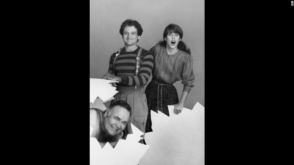 """Mork & Mindy"" was just one of the spinoffs from ABC's ""Happy Days."" It also made the late Robin Williams a superstar (here with co-star Pam Dawber and Jonathan Winters)."