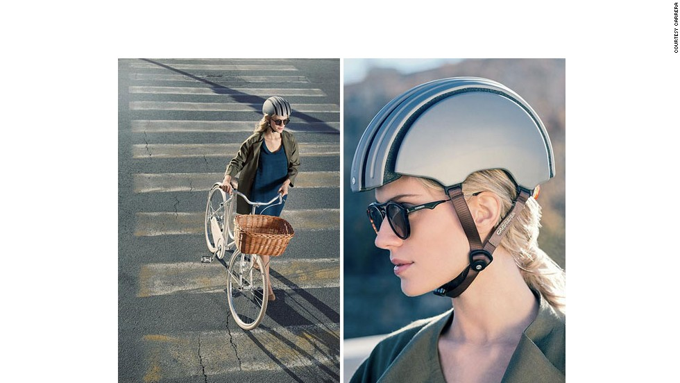 """<a href=""""http://carreraworld.com/gb/"""" target=""""_blank"""">Carrera</a>'s new foldable helmet is a 'revolution in city bike protection'. It's flexible frame means you can stash it away in a bag with no compromise on safety."""