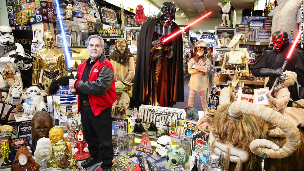Sansweet, from the U.S., has amassed an estimated 300,000 unique items, of Star Wars memorabilia, at Rancho Obi-Wan in northern California. As of May 15, only 90,546 items have been accurately audited and cataloged -- a number sufficient enough, however, to beat the previous Guinness World Records figure by a factor of four. Sansweet estimates that the cataloging process will take years to complete, as his collection continues to grow.