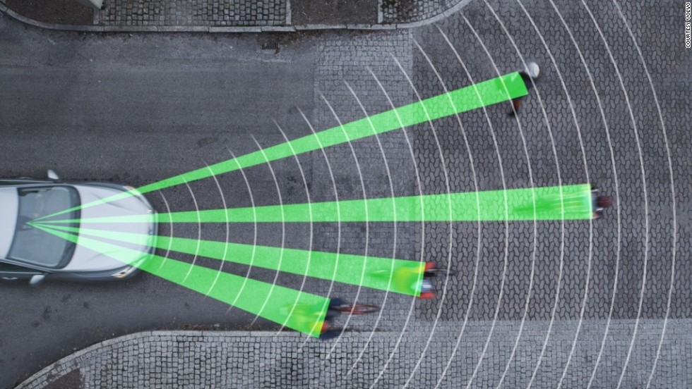 """This one's for cars rather than bikes but it's still a great tool for safety on the roads. Volvo recently won a 'Techies' award for their <a href=""""http://www.techradar.com/news/car-tech/volvo-debuts-world-s-first-cyclist-detection-system-with-full-auto-brake-1141471"""" target=""""_blank"""">Cyclist Detection System</a>, which alerts drivers to nearby cyclists and automatically applies the brakes if they get too close."""