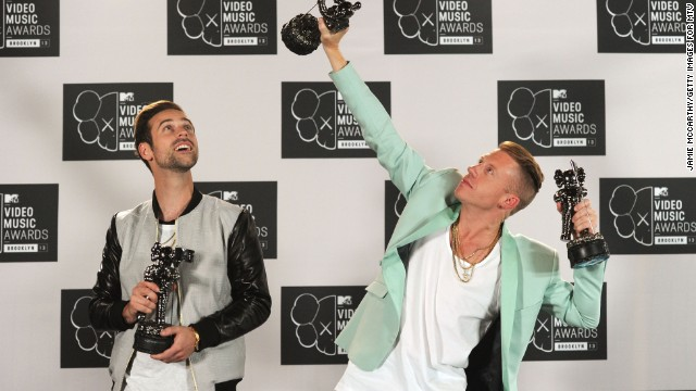 Ryan Lewis and Macklemore attend the 2013 MTV Video Music Awards at the Barclays Center on August 25, 2013 in New York City.