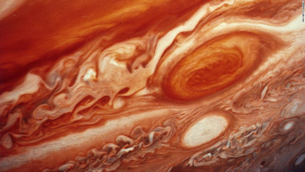 Voyager 2 provided this image of Jupiter's red spot.
